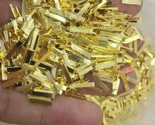 10pcs nail glitter rhinestones Long Strip Metal Bar Nail Studs Nail Art Jewelry 3D Design Decoration nail Accessory for Manicure