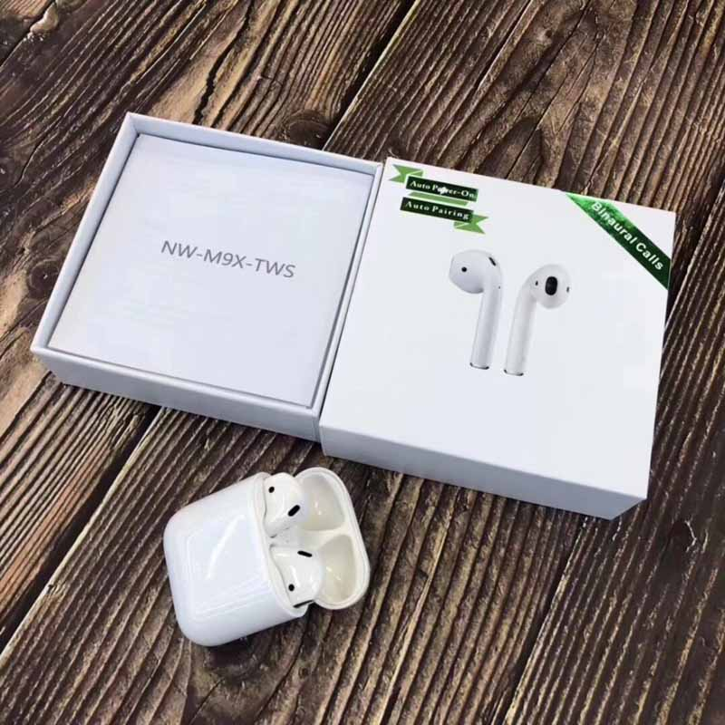 2019 new <font><b>Original</b></font> M9X M9X2 siri Touch Bluetooth earphone 5.0 3D super bass Earbuds for all cell pk i12 i13 <font><b>i14</b></font> i16 i15 <font><b>tws</b></font> image