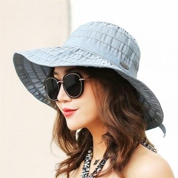 32d0901782d3b 2018 nuevo Big brim Ladies sombreros de verano para las mujeres sombreros  juventud sombra sombrero sombreros de sol playa chapeau sombreros mujer  verano ...