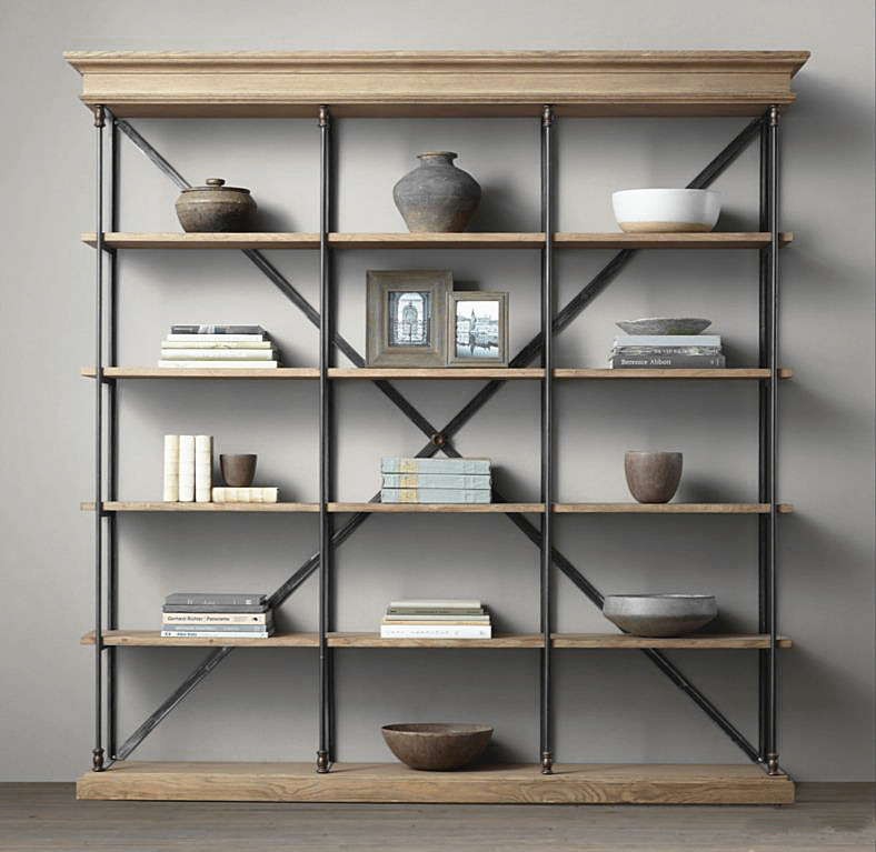 manhattan shelf click bookshelf bookcases p expand unit wood asp iron with struts vintage bookcase small and to industrial