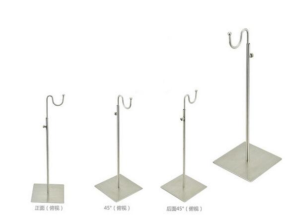 Adjustable Metal Brushed Silver Handbag Stand <font><b>Display</b></font> Women Bag <font><b>Display</b></font> Holder wig holder <font><b>display</b></font> stand bag holder rack