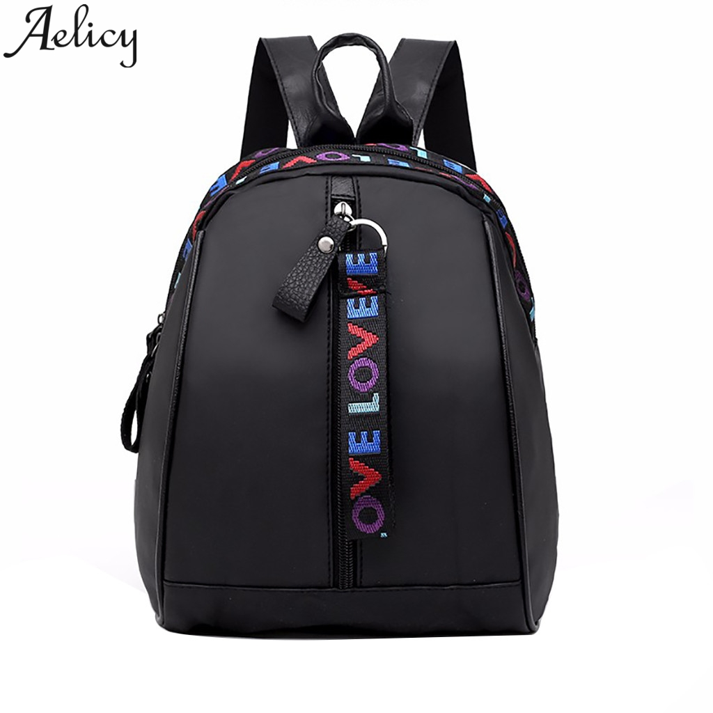 Aelicy Fashion Oxford Cloth Wild Casual Student Bag Backpack School Bag Women Shoulder Bags Travel Backpack Male Multifunction