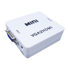 Mini 1080p VGA to HDMI Converter Adapter With Audio Cable VG