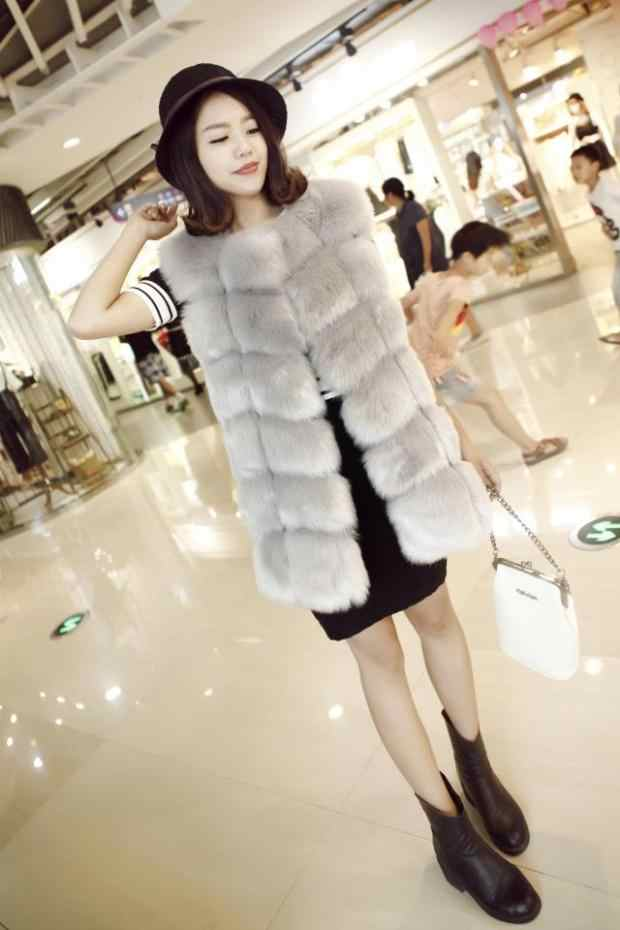 6XL 2019 2019 зимние Для женщин красочные розовый мех жилет из лисьего меха Жилеты женские лисий мех пальто куртка Женский женские меховые пальто V680