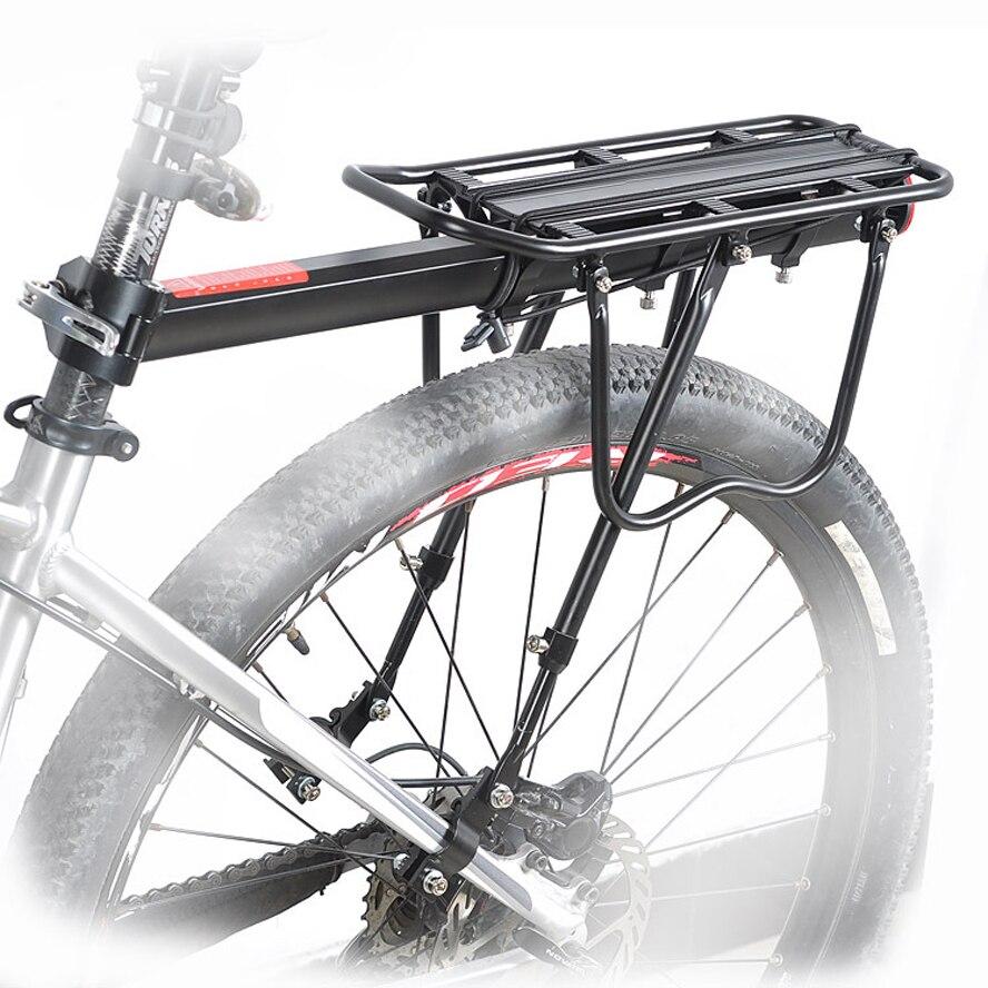 ФОТО 50KGS Capacity Bike Racks Bike Luggage Bicycle Accessories Equipment Stand Footstock V Brake Disc Bicycle Kickstand Bicycle Rack
