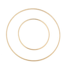 10pcs 30mm/50mm Stainless Steel Gold Plated Soldered Link Connector Closed Jump Rings for Earring Making