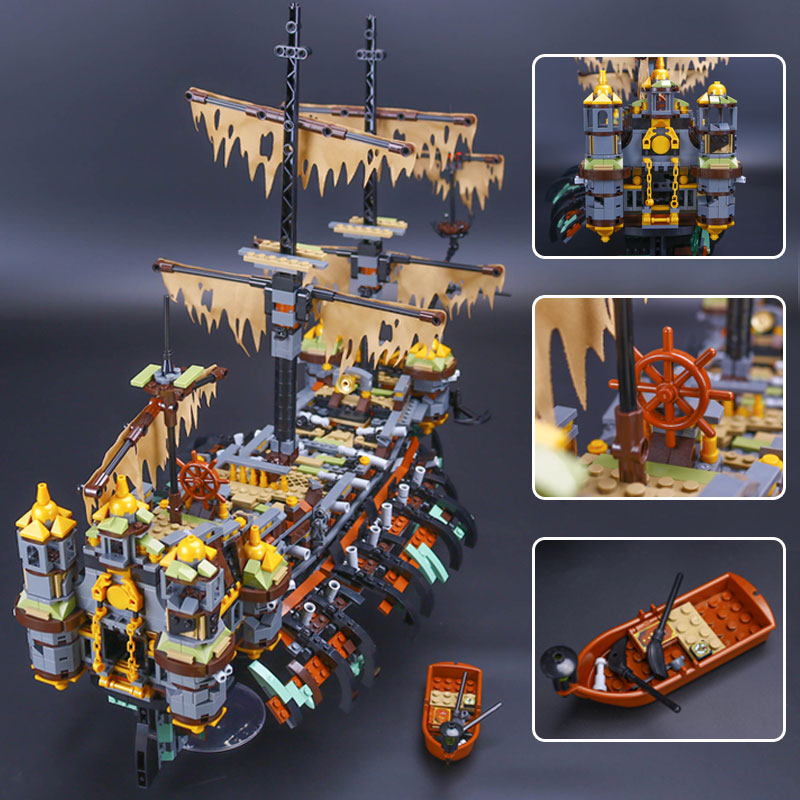 Lepin 16042 Pirate Ship Series The Slient Mary Set LegoINGys 71042 Children Educational Building Blocks Bricks Toys Gift lepin 16002 2791pcs modular pirate ship metal beard s sea cow building block bricks set toys legoinglys 70810 for children gifts