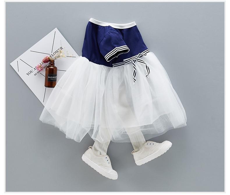 QAZIQILAND Zomerjurk met babymeisje 1 jaar Verjaardag feestjurk Witte - Babykleding - Foto 4
