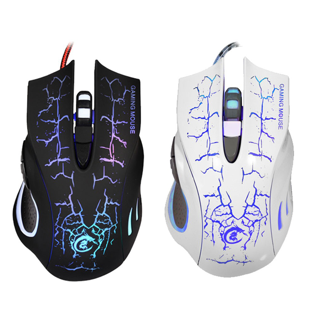 Professionale Regolabile 5500 DPI 6 Pulsanti Colorato Retroilluminato USB Wired Gaming Mouse Gamer Mouse Computer Mouse Ottico per PC