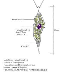 Image 5 - GEMS BALLET colgante de Plata de Ley 925 con gema de peridoto de amatista Natural, collar con colgante de palacio Vintage para mujer, joyería fina