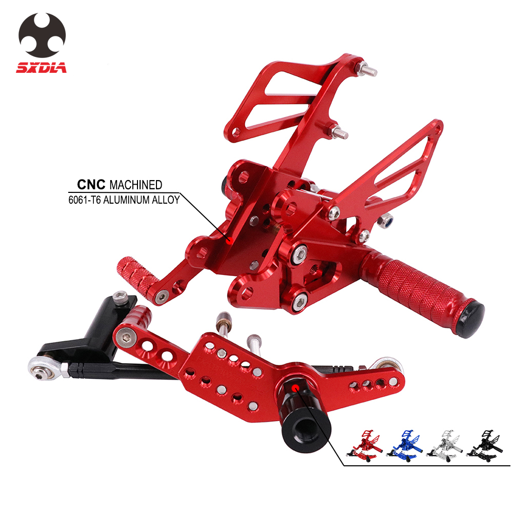 Motorcycle CNC Aluminum Adjustable Foot Pegs Rear Set Footpegs Footrests For HONDA CBR1000RR CBR 1000RR 1000 RR ABS 2009-2015