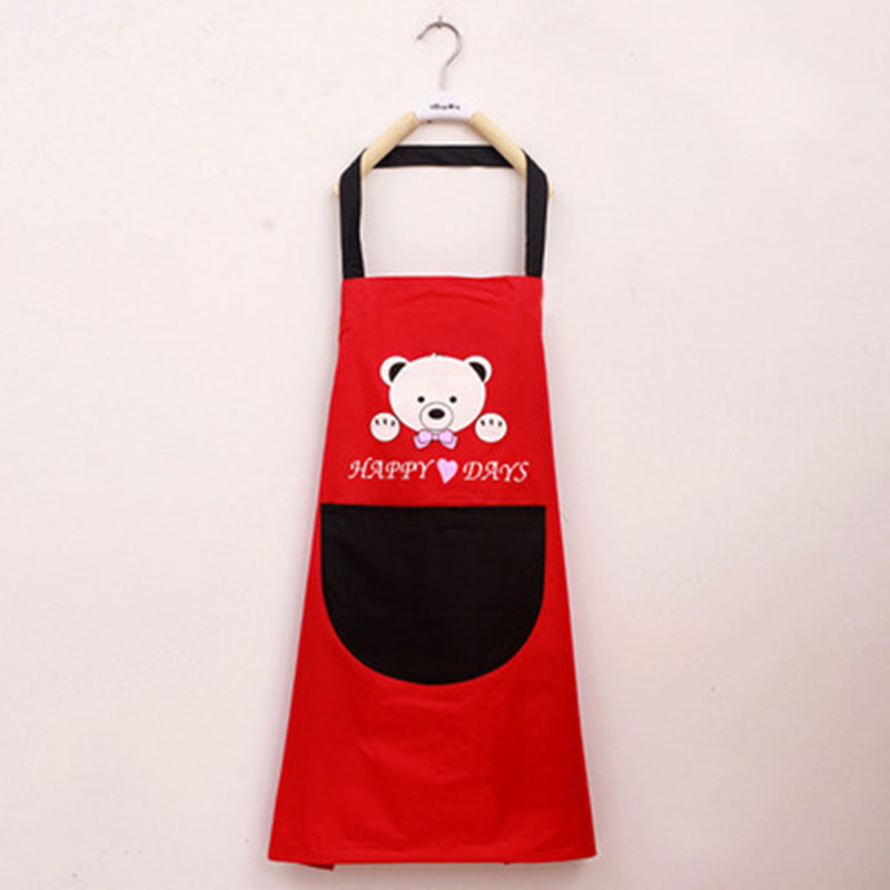 Polyester Cartoon Bear Women Aprons Practical Cooking Panting BBQ Restaurant Working Clothes Coffee Use Nail Salon Aprons