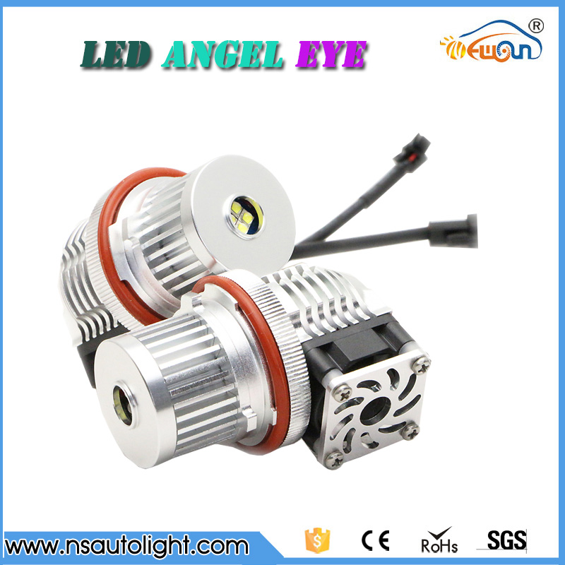 20W CREE Chips LED Marker Angel Eyes With Fan Halo Light Bulb For BMW E87 E39 M5 E60 E61 E63 E64 M6 E65 E66 X3 E83 X5 E53 brand new 7000k led angle eyes halo xenon marker ring light bulb canbus for bmw e39 e53 e60 e61 e63 e64 e65 e66 x5