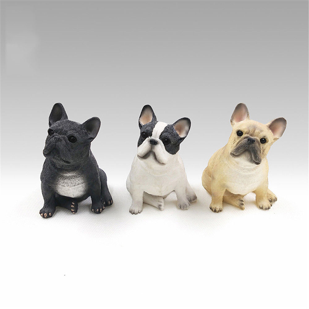 1 PCS French Bulldog Statue Pet Animal Figure Model Adult Kids Collection Science Education Toys Gift Home Decor
