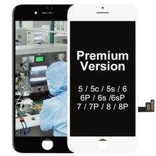 Premium version Replacement Touch Screen Panel For iPhone 5S LCD Display Black White Pantalla Digitizer Assembly + Camera Holder