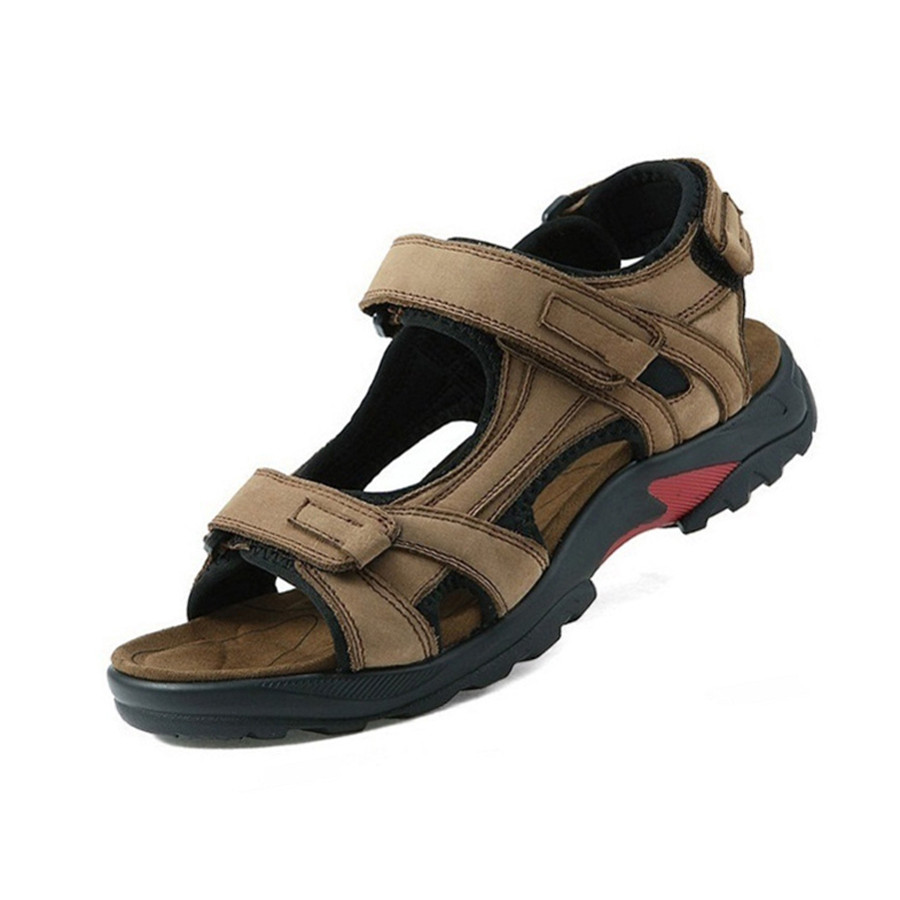 Men Sandals Genuine-Leather Outdoor-Shoes Top-Quality Plus-Size Summer 38-48 3363