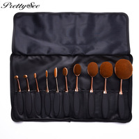 PRETTYSEE Women Professional Oval Makeup Brushes Set Toothbrush Cosmetic Tool For Eye And Face Cosmetics 10