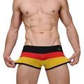 Bonito roupa interior dos homens de luxo da marca homens boxers grife mens calcinha transparente masculino roupa interior de algodão boxer shorts sexy lingerie pant