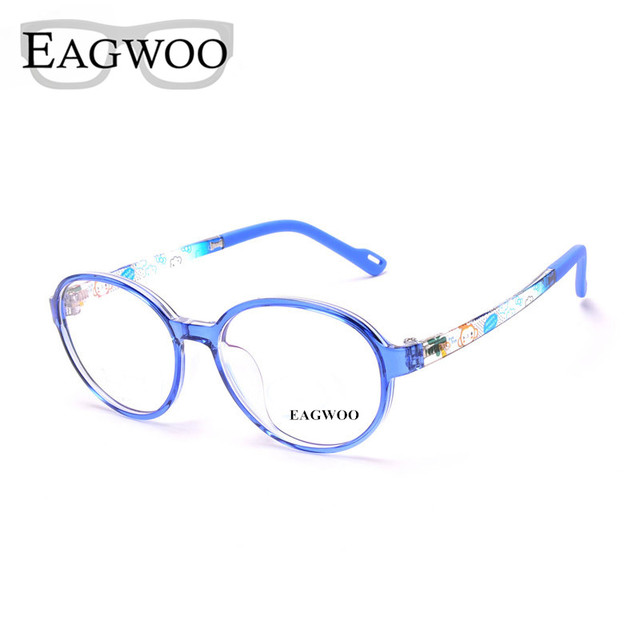 e7c309e66b EAGWOO Plastic TR Eyeglasses Children Optical Glasses Plain Round Vintage  Optical Frame Boy Girl Sepectacle Eye Glasses 1036