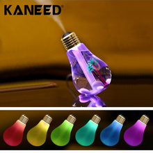 400ML Colorful Light Portable Bulb Shape Aromatherapy Air Purifier Humidifier for Home Office Car