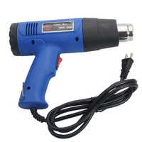 1500W 110V Dual-Temperature Heat Gun with 4pcs Building Hot Air Soldering Stainless Steel Hair dryer Concentrator Tips Blue