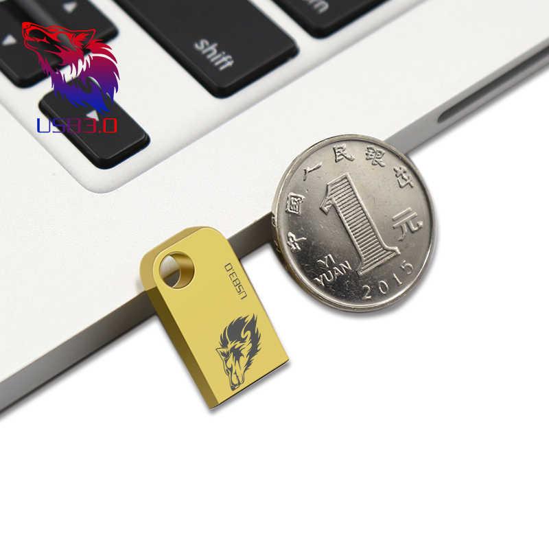 Super Mini Pen Drive 64 GB 32 GB USB 3.0 Flash Drive Flashdisk USB 16 GB Memori 8 GB tongkat Real Capacity USB 3.0