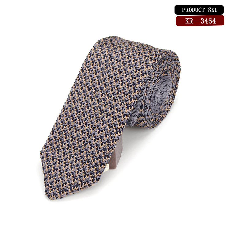 A Stunning Knitted Silk Tie Beautiful Unique Yellow Small Arrow Knitted Tie Popular 6 Cm Narrow Tie  For Man