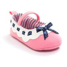 Cotton fabric baby shoes girls boys sneakers shoes butterfly knot baby first walkers newborn infantil bebe shoes 0~18month bx287