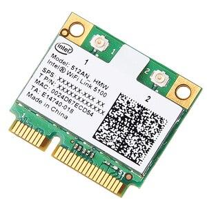 Image 1 - Dual band 300 Mbps Wireless Card สำหรับ Intel Wifi 5100 512AN_HMW Mini PCI e Wlan การ์ดเครือข่าย 2.4G/5 ghz 802.11 a/g/n สำหรับแล็ปท็อป