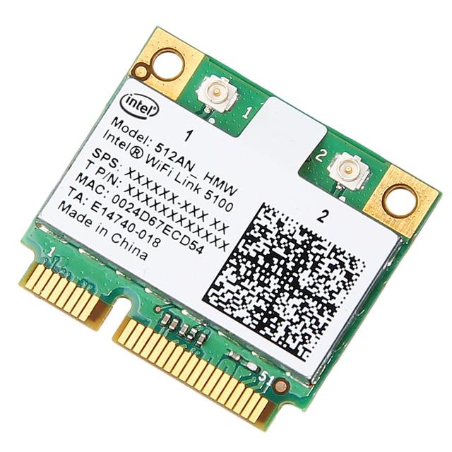 Dual band 300 Mbps Wireless Card สำหรับ Intel Wifi 5100 512AN_HMW Mini PCI e Wlan การ์ดเครือข่าย 2.4G/5 ghz 802.11 a/g/n สำหรับแล็ปท็อป
