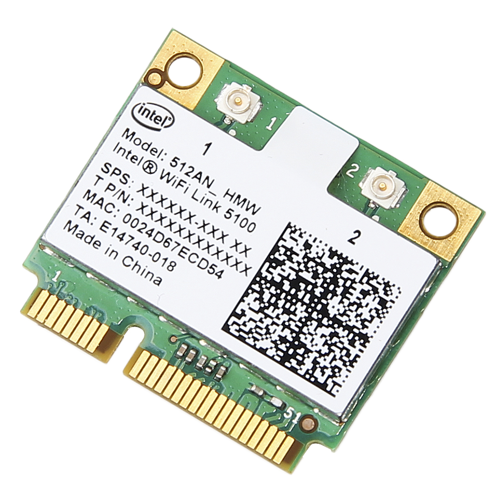 Dual Band 300Mbps Wireless Card For Intel Wifi 5100 512AN_HMW Mini PCI-e Wlan Network Card 2.4G/5Ghz 802.11 A/g/n For Laptop