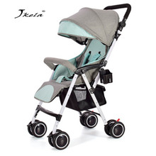 Multifunctional Baby Stroller 3 in 1 Plane Lightweight Portable High Landscape lying or dampening Folding Carriage weight light voondo baby stroller can sit cart 2 in 1 and 3in1reclining lightweight folding children high landscape child baby stroller bb