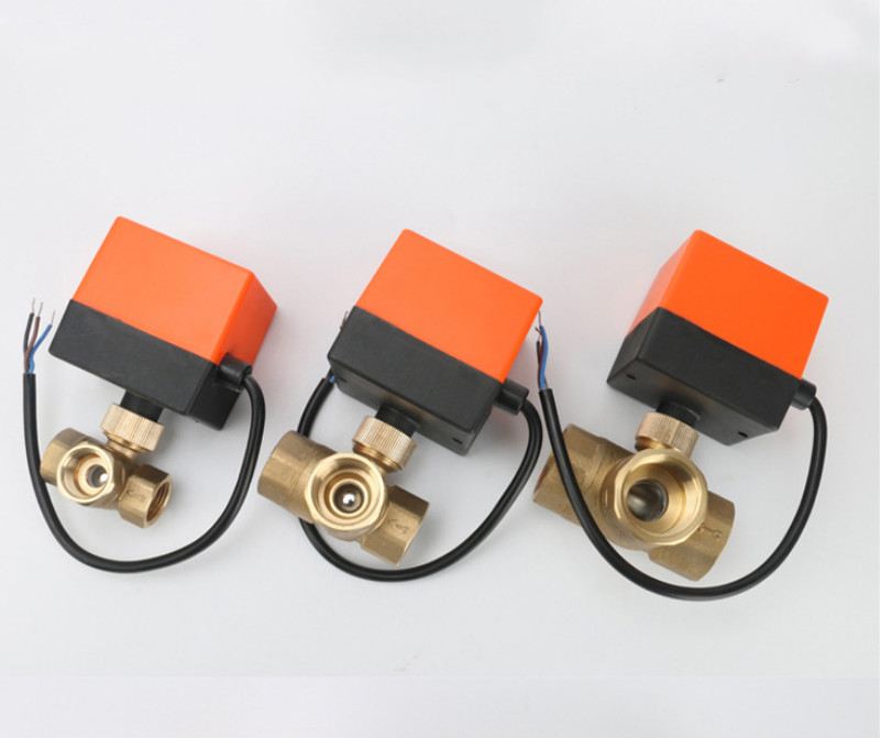 3 2 wege motorkugelventil elektrokugelhahn motorventil drei linie ...