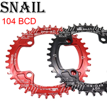 SNAIL Chainring 104 BCD round 38 40 42T tooth narrow n wide single tooth plate MTB Mountain bike 104BCD chain ring road bike цена 2017