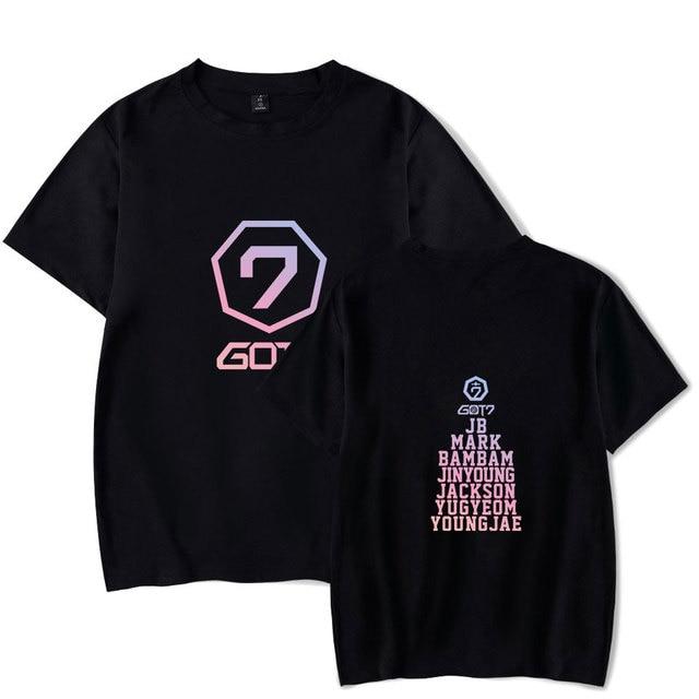 GOT7 T-shirts Summer Style Short Sleeve Kpop Hip Hop Tee Shirt Fashion Print Cool T-shirts XXS To 4XL