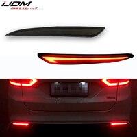 Luz trasera estilo rojo 3D óptica LED Reflector de parachoques trasero de conducción luz trasera de frenos giro para 2014 ~ 2016 fusión Ford Mondeo