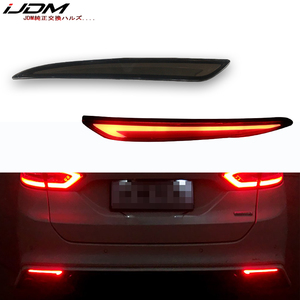 Image 1 - Taillight Style Red 3D Optic LED Rear Bumper Reflector driving Tail Brake Light Turning Lights For 2014~2016 Ford Fusion Mondeo
