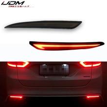 Taillight Style Red 3D Optic LED reflektor tylnego zderzaka jazdy tylne światło hamowania włączanie świateł dla 2014 ~ 2016 Ford Fusion Mondeo