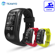 Teamyo IP68 Professional Waterproof GPS Tracker Smart Band Pedometer Bracelet Fitness with Swim Run Ride Heart rate Monitor