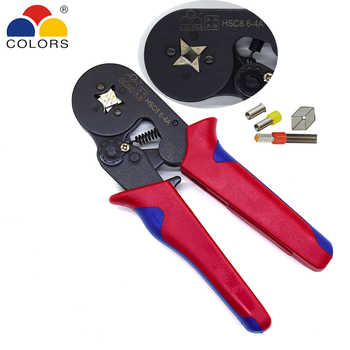 COLORS HSC8 6-4 0.25-6mm2 23-10AWG crimping pliers 700pcs terminals for tube type needle type terminal crimp self-adjusting tool