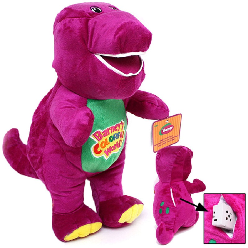 Valentine S Day Talking Toys : Dinosaur plush toys purple barney movie tv character