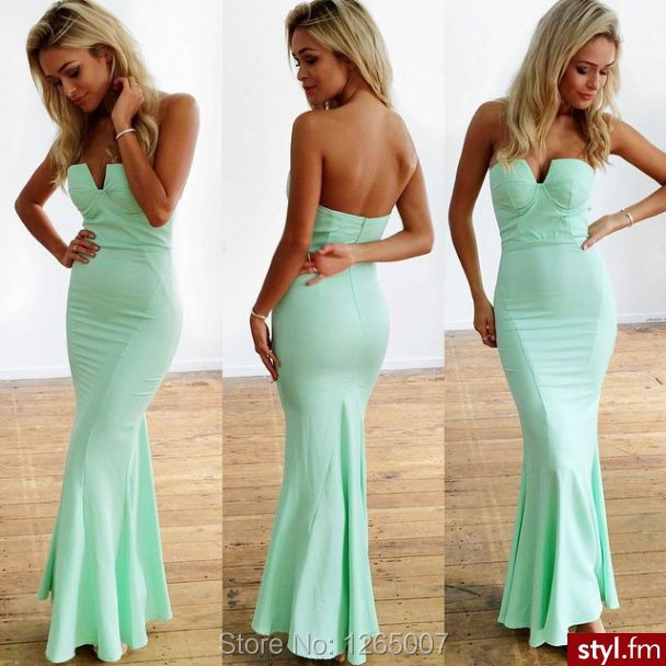 Popular plain prom dress buy cheap plain prom dress lots for Tight fitted mermaid wedding dresses