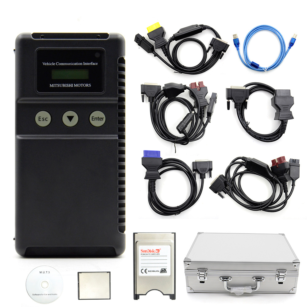 DHL Free Shipping Top Rated MU T 3Support ECU Programmer for Mitsubishi MUT3 MUT 3 Car