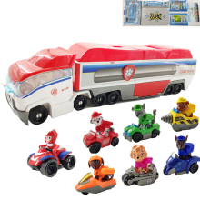 New Paw Patrol dog patrol car mobile rescue big bus puppy model variant childrens toys Christmas gifts