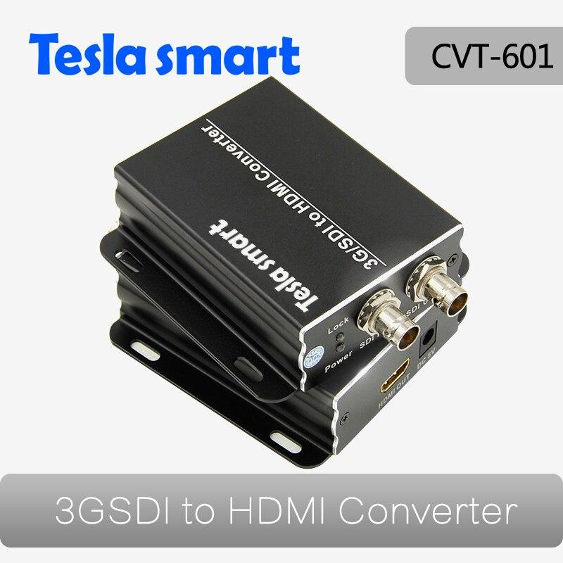 3G HD SD SDI vers HDMI Converter Box avec Signaux Converterfull 1080 P Soutien Noir