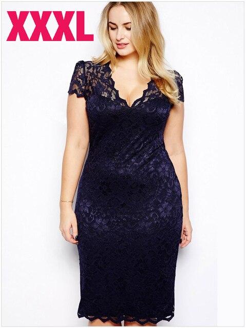 Hot Sale High Quality Women Hollow Out Lace Dress Fashion Xxxl Large