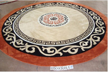 Diameter 200 cm 100% Wool Round Carpet Diameter Area Rugs For Living Room Furniture Luxury Life