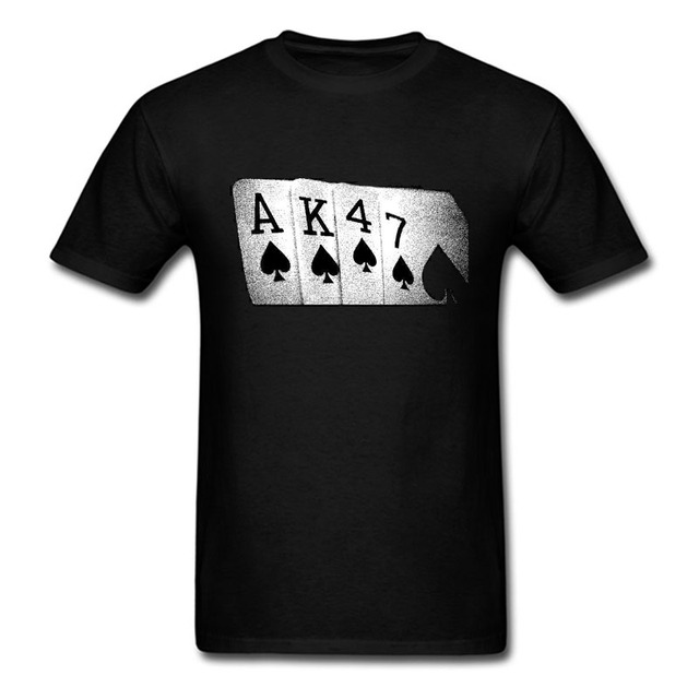 Stampato Uomo Poker Shirt Mano T Ak47 Divertente Soviet Russo Di ZiXuTkOP