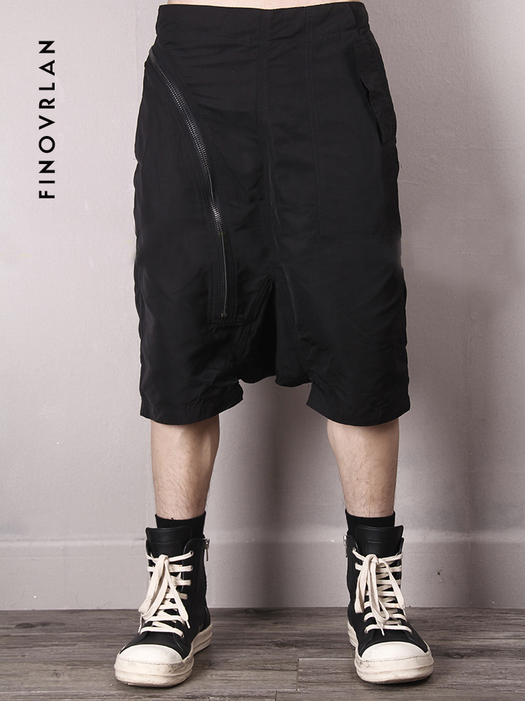 2019 Men Summer Cargo Shorts Bermuda Big Zipper Solid Hip Hop Men Mens Short Pants Jogger Men Harlan Shorts Streetwear