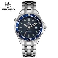 2017 Sekaro Mens High Quality Automatic Mechanical Watches Men Top Brand Luxury Business Full Steel Watch